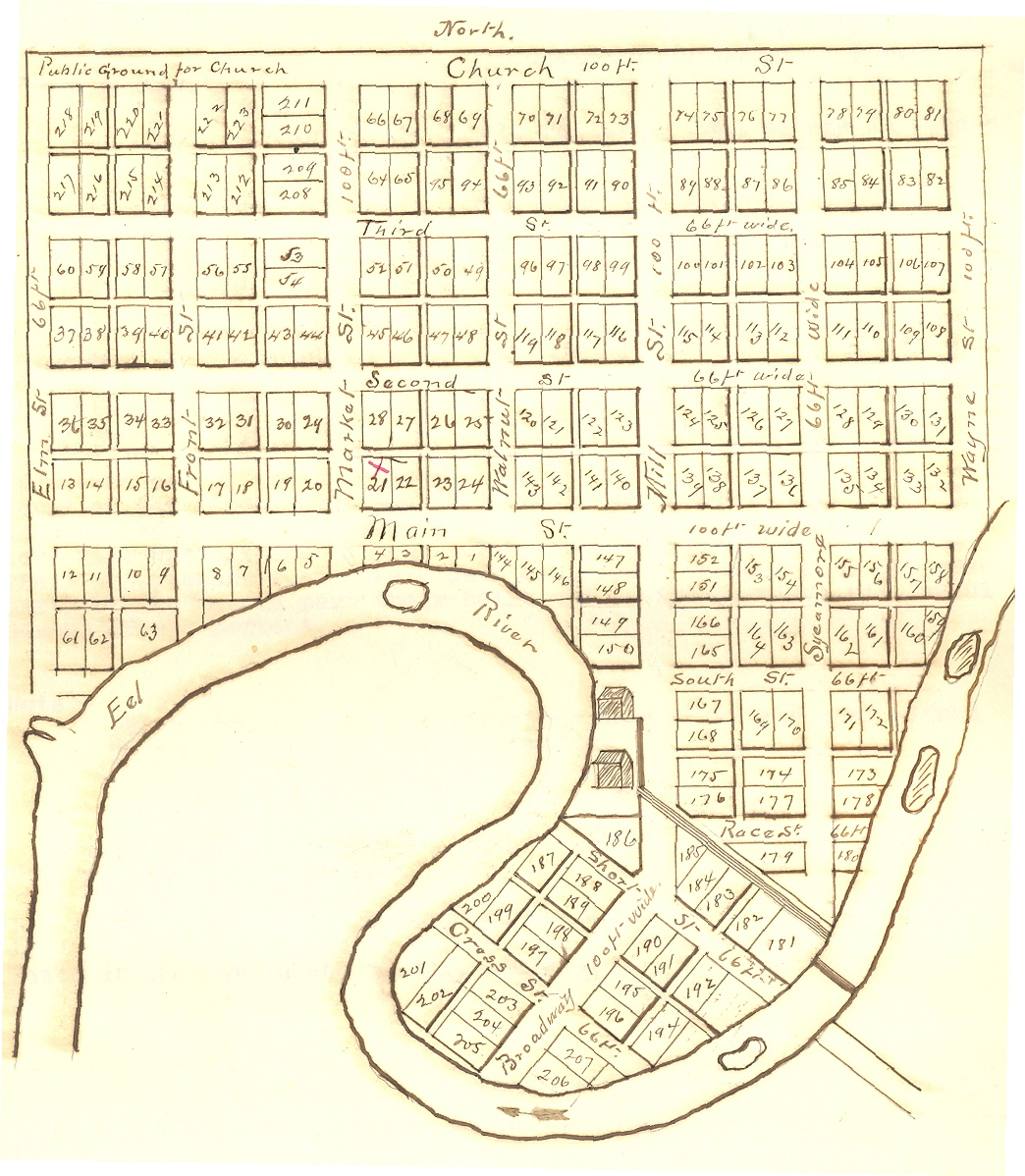 Original Plat of Town of Manchester