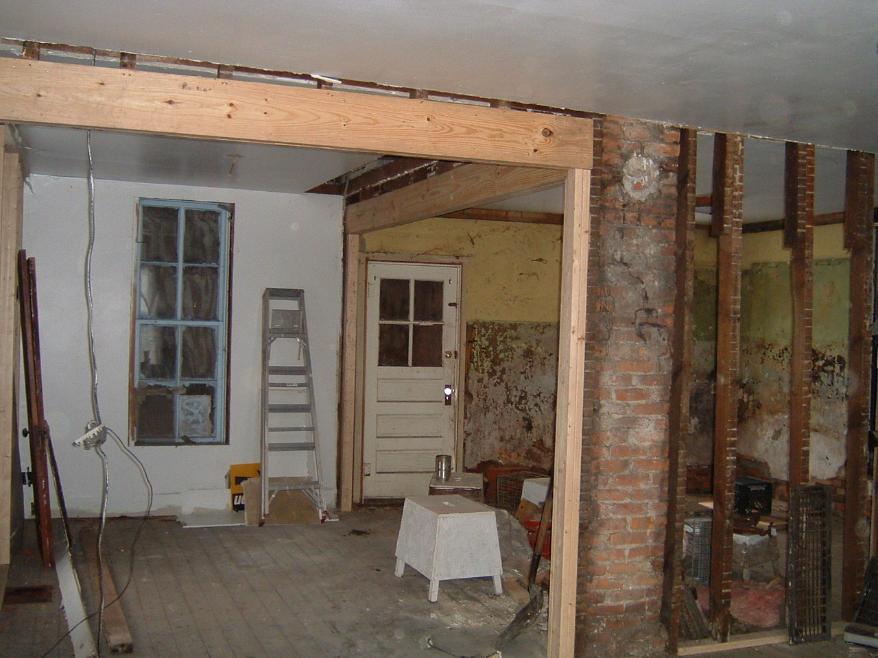 Grant Street House Interior, Before Restoration