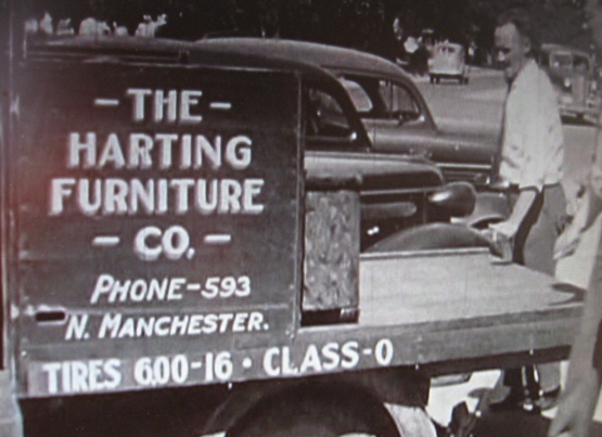 Harting Furniture Truck Sign in 1938, North Manchester