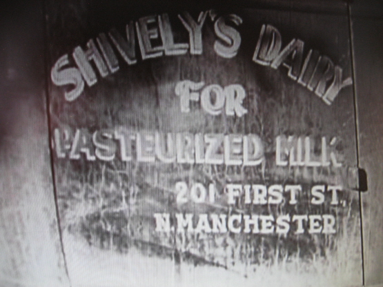 Shively's Dairy Truck Sign, 1938, North Manchester