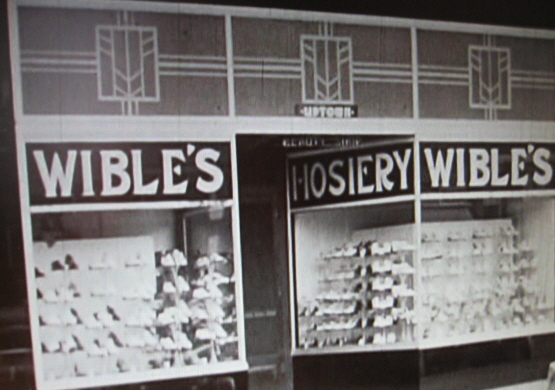 Wible's Shoe Store in 1938, North Manchester