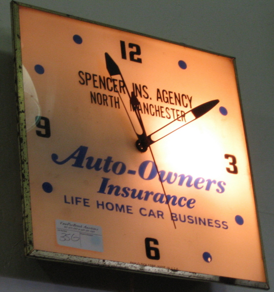 Spencer Insurance Agency Clock, North Manchester