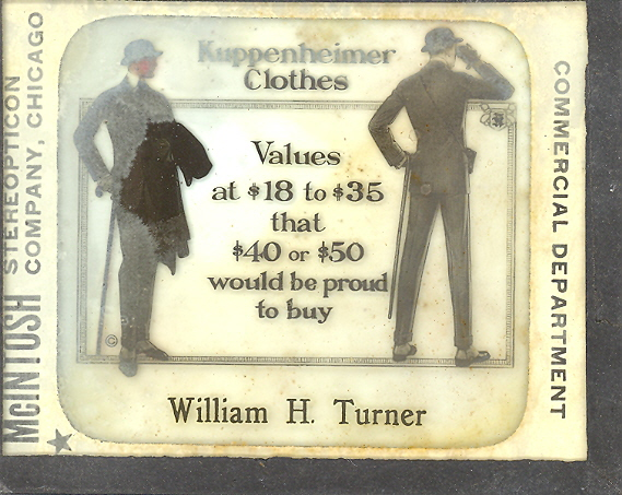 Wm. Turner, Clothing, Slide (Advertising), North Manchester
