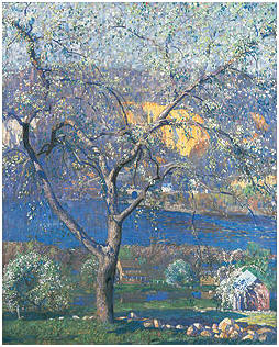 Painting, 1916, Daniel Garber-Buds and Blossoms