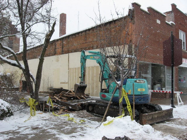 Demolition of 106 E Main Building