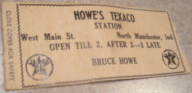Howe's Texaco Station, West Main, North Manchester