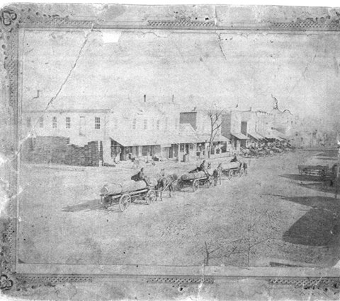 NE Corner of Market and Main, North Manchester, ca 1878