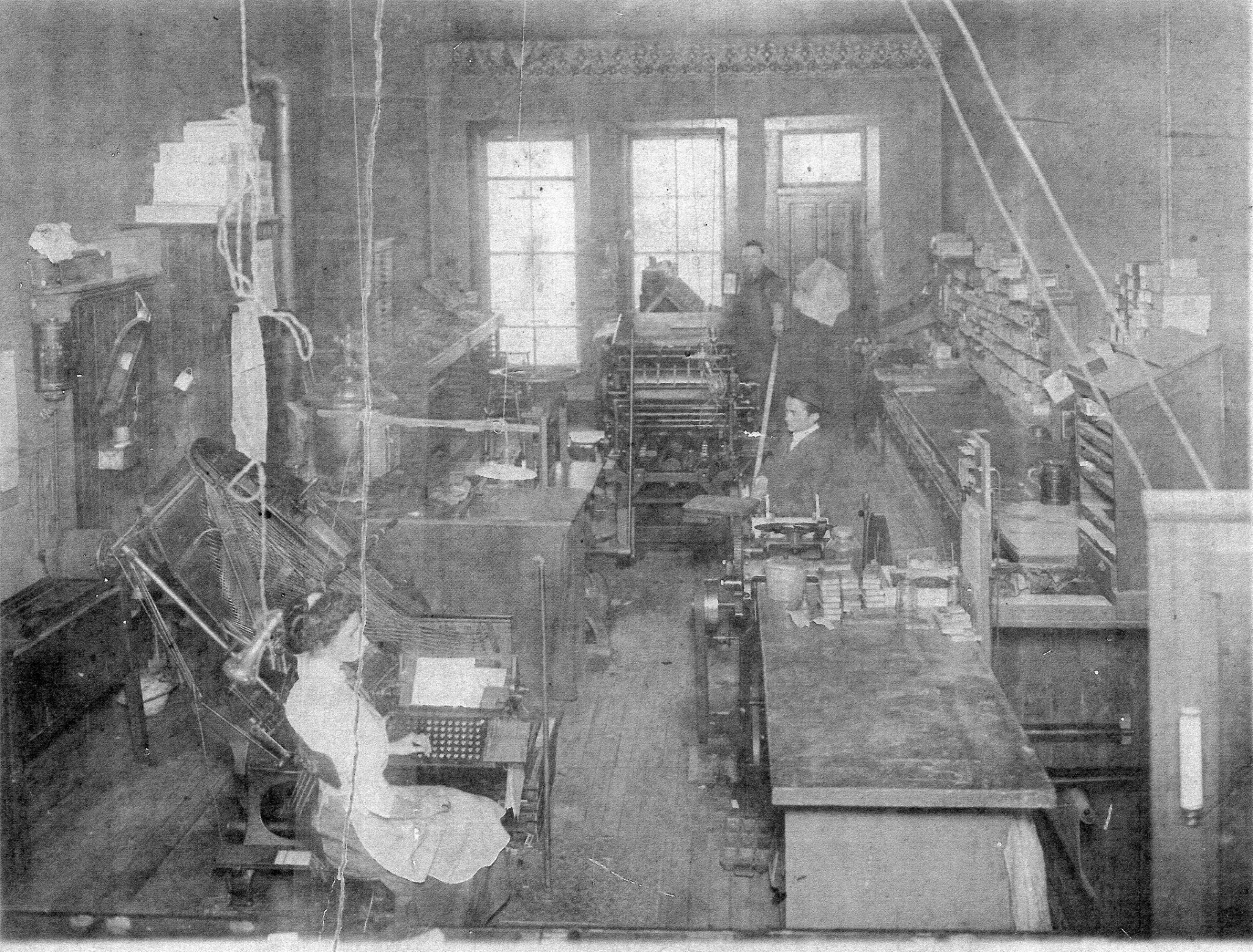 Interior View of Manchester Printing ca 1905
