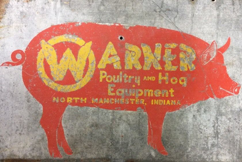 Warner Galvanized Sign