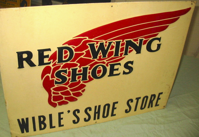 Wible's Redwing Shoe Sign